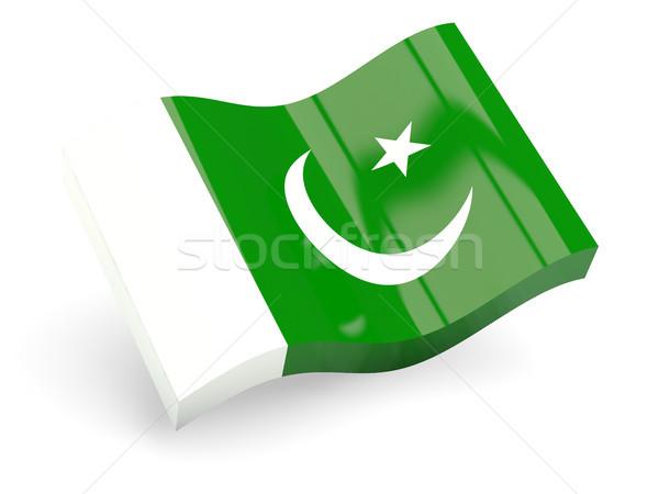 3D zászló Pakisztán izolált fehér utazás Stock fotó © MikhailMishchenko