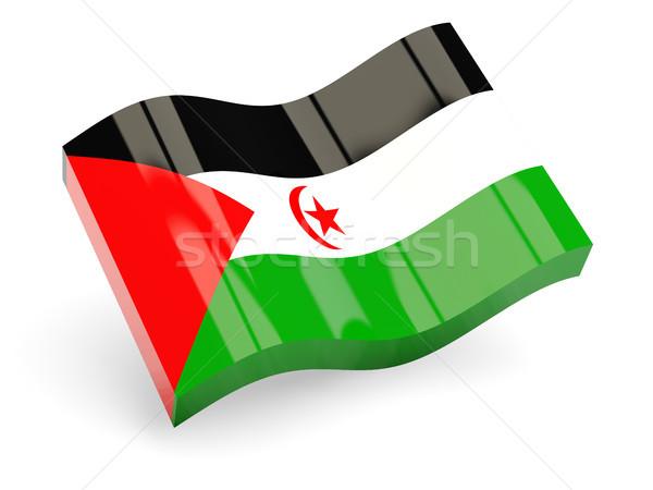 3D zászló western Szahara izolált fehér Stock fotó © MikhailMishchenko