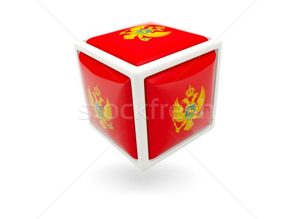 Flag of montenegro. Cube icon Stock photo © MikhailMishchenko