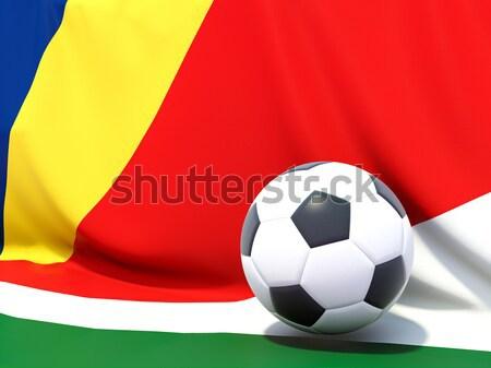 Banderą Erytrea piłka nożna zespołu kraju Zdjęcia stock © MikhailMishchenko