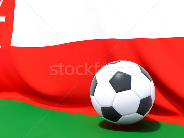 Flag of oman with football in front of it Stock photo © MikhailMishchenko