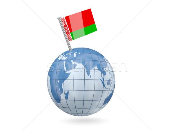 мира флаг Беларусь синий изолированный белый Сток-фото © MikhailMishchenko