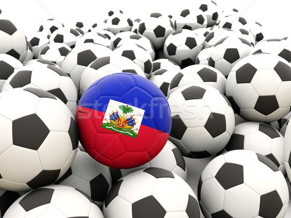 Futbol bayrak Haiti düzenli yaz Stok fotoğraf © MikhailMishchenko