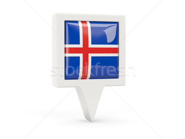 Square flag icon of iceland Stock photo © MikhailMishchenko