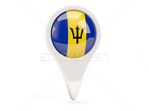 Round flag icon of barbados Stock photo © MikhailMishchenko