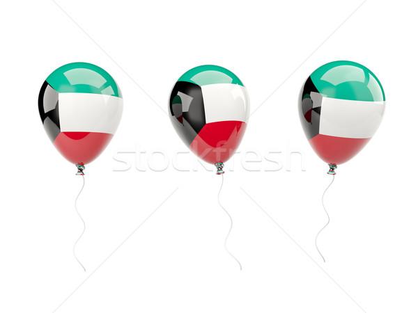 Aria palloncini bandiera Kuwait isolato bianco Foto d'archivio © MikhailMishchenko