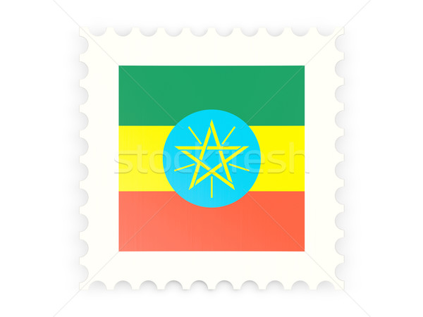 Postage stamp icon of ethiopia Stock photo © MikhailMishchenko