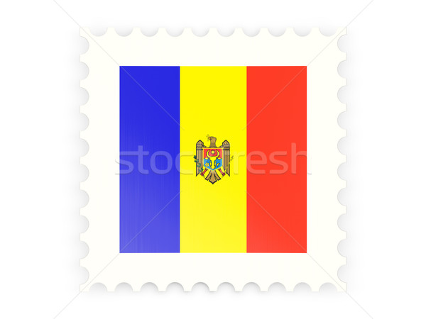 Postabélyeg ikon Moldova izolált fehér posta Stock fotó © MikhailMishchenko