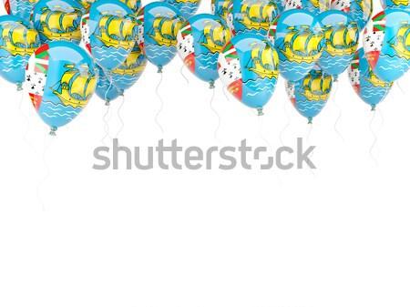 Ballon Rahmen Flagge Tansania isoliert weiß Stock foto © MikhailMishchenko