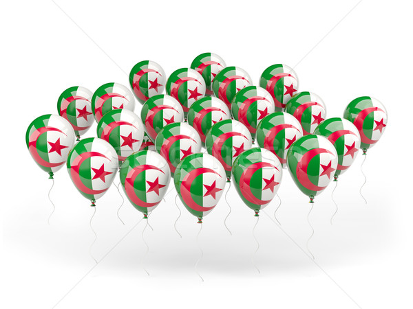 Ballons pavillon Algérie isolé blanche pays Photo stock © MikhailMishchenko