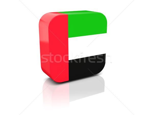 Square icon with flag of united arab emirates Stock photo © MikhailMishchenko