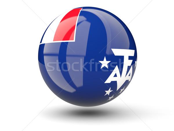Round icon of flag of french southern territories Stock photo © MikhailMishchenko