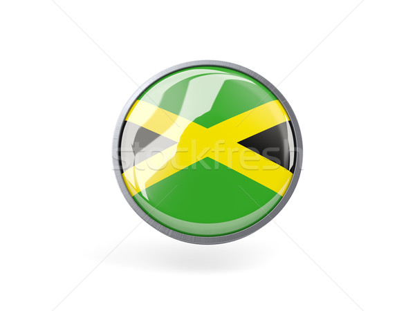 Round icon with flag of jamaica Stock photo © MikhailMishchenko