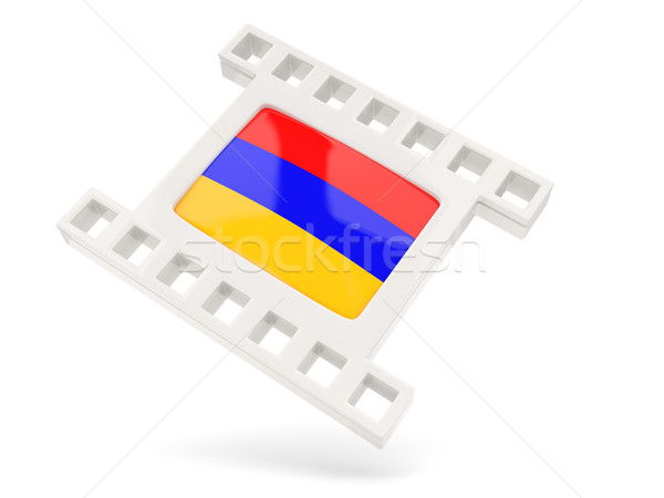 映画 アイコン フラグ アルメニア 孤立した 白 ストックフォト © MikhailMishchenko