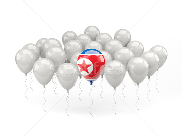 Air balloons with flag of north korea Stock photo © MikhailMishchenko