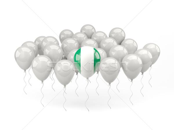 Ar balões bandeira Nigéria isolado branco Foto stock © MikhailMishchenko