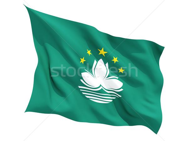 Waving flag of macao Stock photo © MikhailMishchenko