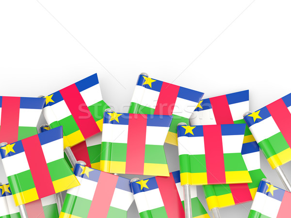 Flag pin of central african republic Stock photo © MikhailMishchenko