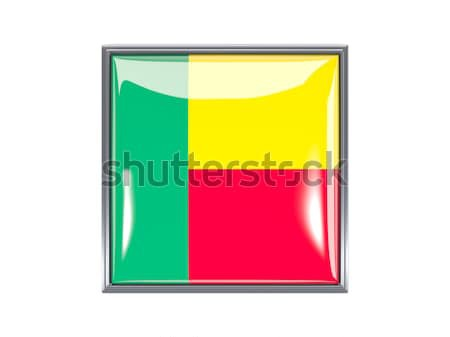 Kare ikon bayrak cumhuriyet Kongo Metal Stok fotoğraf © MikhailMishchenko
