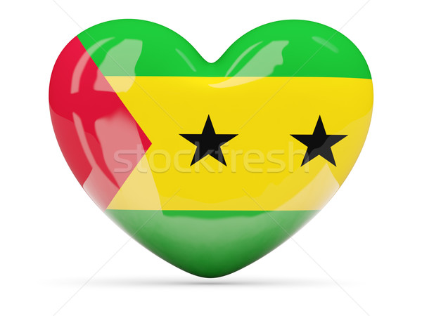 Heart shaped icon with flag of sao tome and principe Stock photo © MikhailMishchenko