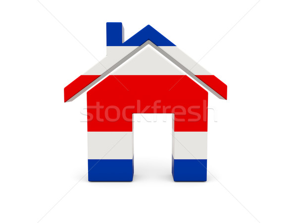 Home with flag of costa rica Stock photo © MikhailMishchenko