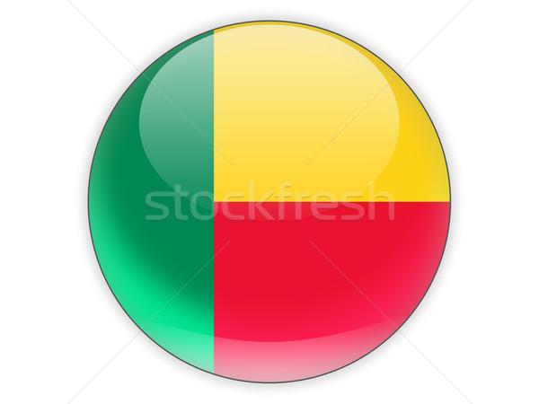 Icona bandiera Benin isolato bianco viaggio Foto d'archivio © MikhailMishchenko