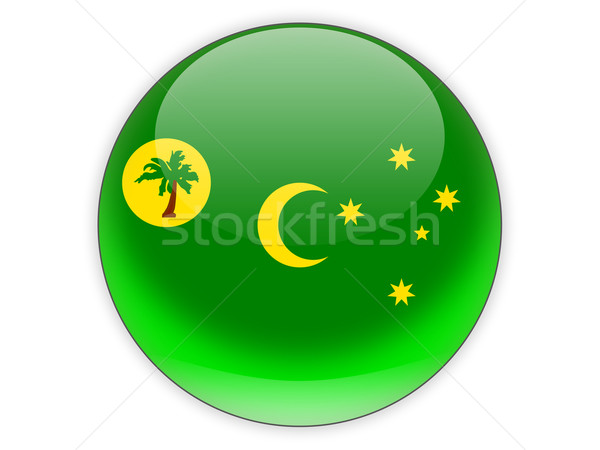 Round icon with flag of cocos islands Stock photo © MikhailMishchenko