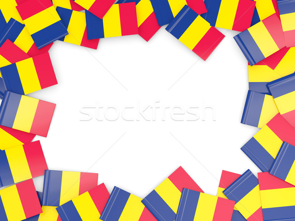 Frame with flag of chad Stock photo © MikhailMishchenko