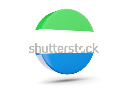 Round icon with flag of sierra leone Stock photo © MikhailMishchenko