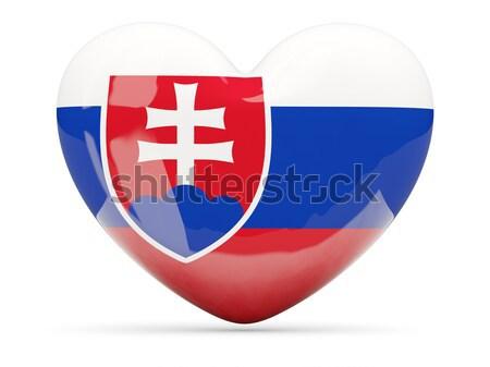 Icona bandiera Slovacchia lucido segno paese Foto d'archivio © MikhailMishchenko