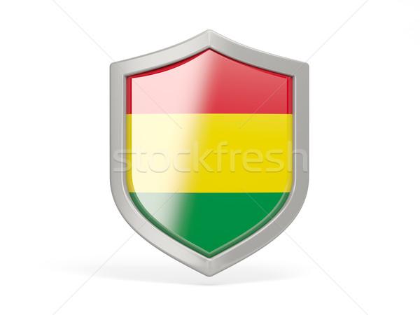 щит икона флаг Боливия изолированный белый Сток-фото © MikhailMishchenko