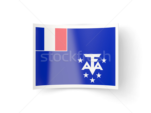 Bent icon with flag of french southern territories Stock photo © MikhailMishchenko