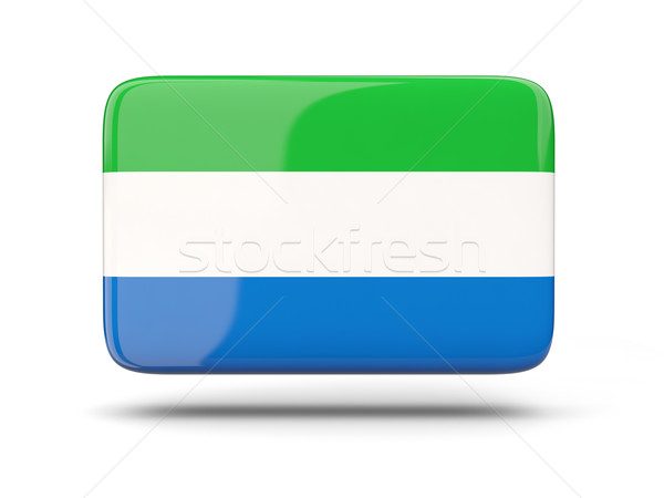 Square icon with flag of sierra leone Stock photo © MikhailMishchenko