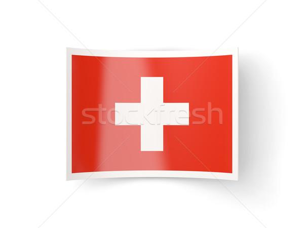 Ikon bayrak İsviçre yalıtılmış beyaz ülke Stok fotoğraf © MikhailMishchenko