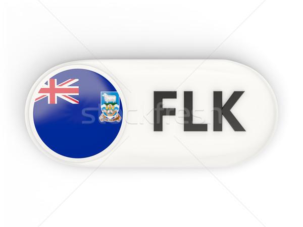 Ikon zászló Falkland-szigetek iso kód felirat Stock fotó © MikhailMishchenko