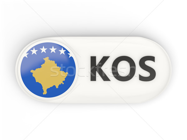 ícone bandeira Kosovo iso código país Foto stock © MikhailMishchenko