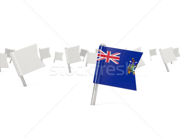 Cuadrados pin bandera sur Georgia sándwich Foto stock © MikhailMishchenko