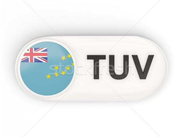 ícone bandeira Tuvalu iso código país Foto stock © MikhailMishchenko