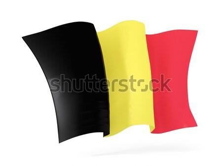 Bandeira Bélgica ilustração 3d isolado branco Foto stock © MikhailMishchenko