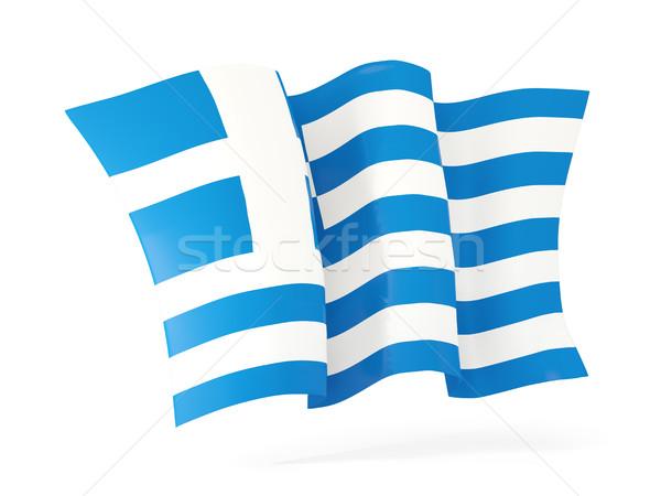 Bandiera Grecia illustrazione 3d isolato bianco Foto d'archivio © MikhailMishchenko