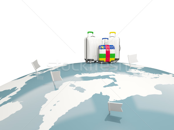 Luggage with flag of central african republic. Three bags on top Stock photo © MikhailMishchenko