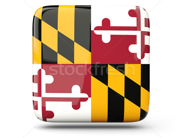 Flag of maryland, US state square icon Stock photo © MikhailMishchenko