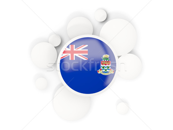 Round flag of cayman islands with circles pattern Stock photo © MikhailMishchenko