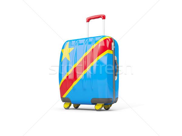 Bagaj bayrak demokratik cumhuriyet bavul yalıtılmış Stok fotoğraf © MikhailMishchenko