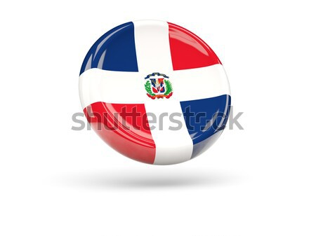 Round flag of dominican republic with circles pattern Stock photo © MikhailMishchenko