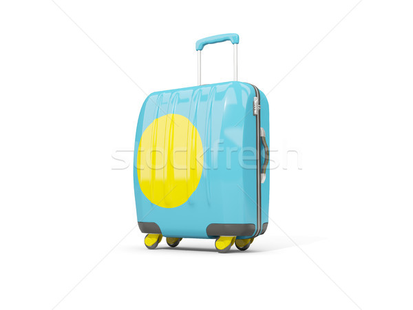 荷物 フラグ スーツケース 孤立した 白 3次元の図 ストックフォト © MikhailMishchenko