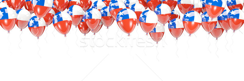Balloons frame with flag of chile Stock photo © MikhailMishchenko