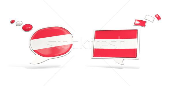 Dois conversar ícones bandeira Áustria praça Foto stock © MikhailMishchenko