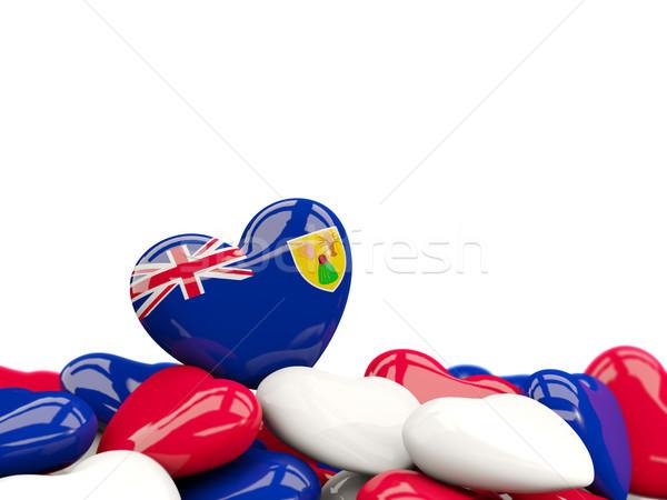 Heart with flag of turks and caicos islands Stock photo © MikhailMishchenko