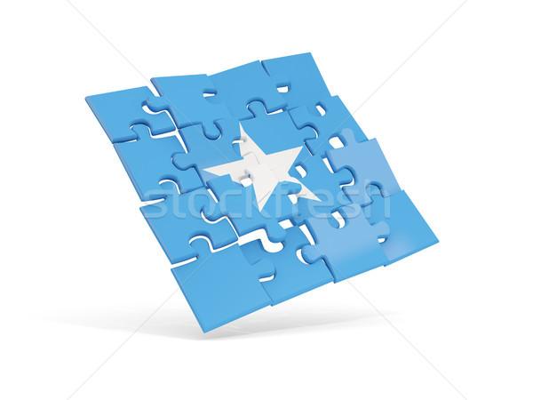 Puzzle banderą Somali odizolowany biały 3d ilustracji Zdjęcia stock © MikhailMishchenko